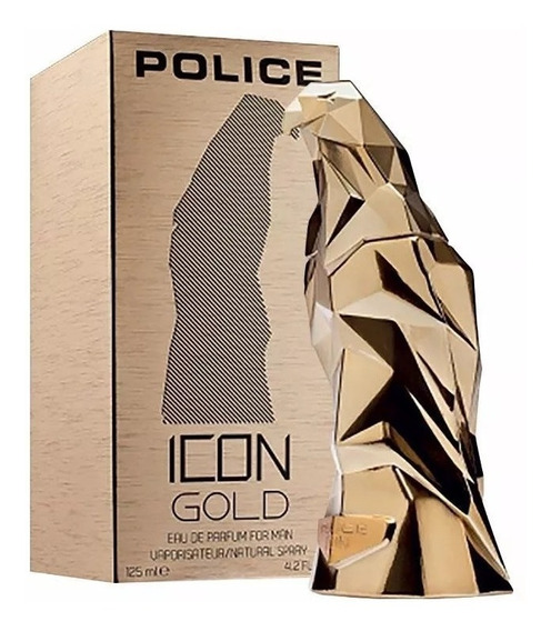 Perfume Police Icon Gold Eau De Parfum Man 125 Ml - Original