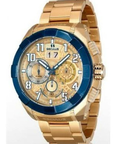 Relógio Masculino Dourado Seculus Upper Cronógrafo
