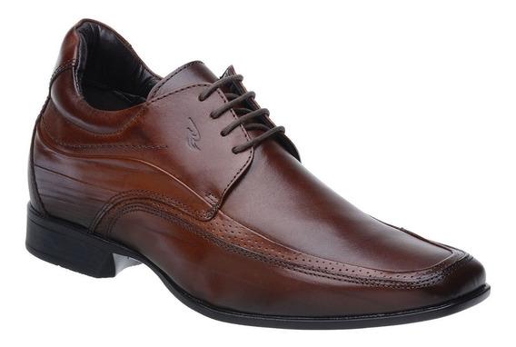 Sapato Rafarillo Linha Alth Você + Alto 7cm Couro Marrom Com