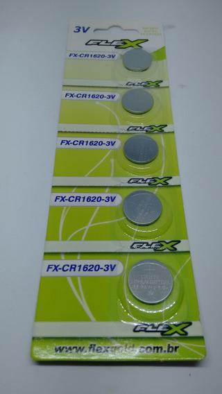Pilha P/ Eletronicos Mod. Cr1620 Marcam Flex/ C/5