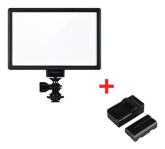 Iluminador Led Viltrox L116t Lcd + Bateria - Luz Led Youtube