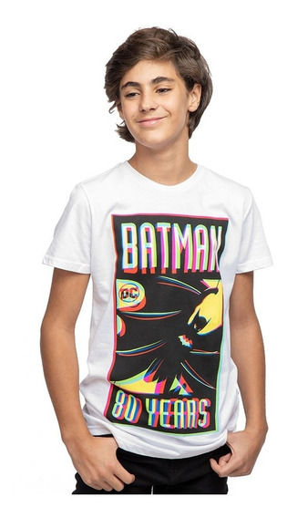 Playera Niño Batman 80 Years Licencia Dc