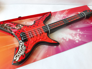 Guitarra Musical Miraculous Lady Bug Luces Sonido 60cm Aprox