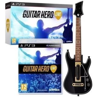 Guitar Hero Live Ps3 Guitarra Ps3 Original C/juego Caballito