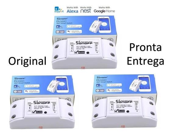 Kit 3 Sonoff Interruptor Wifi - Automação - Frete Grátis