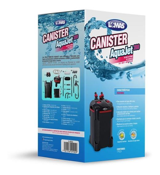 Filtro Canister Aquajet 200 Litros Peces Acuario