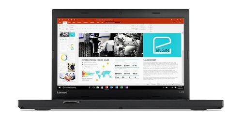 "Imagen 1 de 5 de Laptop Lenovo ThinkPad L470 negra 14"", Intel Core i5 6300U  8GB de RAM 256GB SSD, Intel HD Graphics 520 1366x768px Windows 10 Pro"
