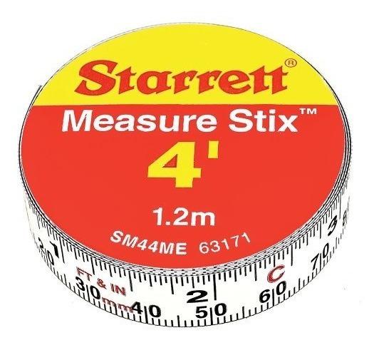 Starrett Measure Stix Sm44me Cinta De Medicion De Acero Blan