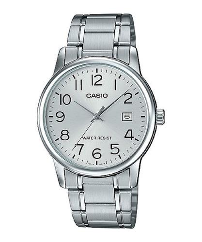 Reloj Casio Mtp-v002d Hombre Calendario Acero  100% Original