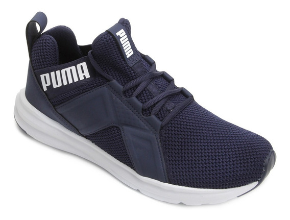 Tênis Puma Enzo Weave Bdp Azul Marinho Branco Masculino
