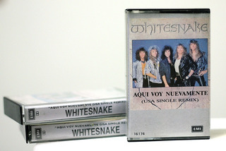 Cassette Tape Single Whitesnake Here I Go Again 1987 / Nuevo