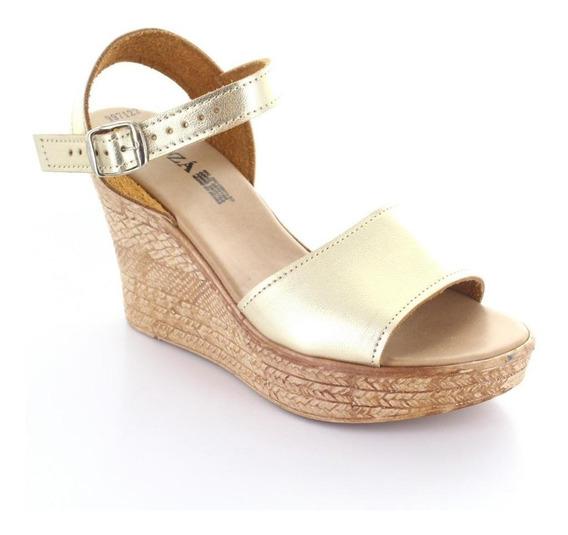 Sandalia Para Mujer Muzza 9971-033634 Color Oro