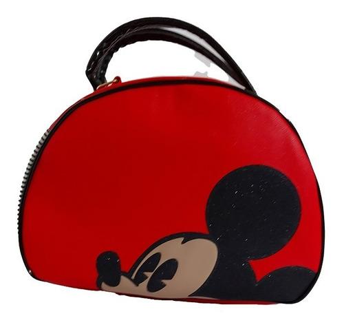 Imagen 1 de 6 de Bolsa De Dama De Disney, Mickey Mouse, En Color Rojo/negro