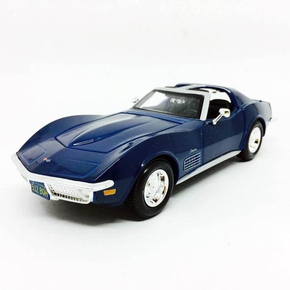 Auto Corvette 1970 Abre Puertas Y Capo A Escala 1/24 Romemut