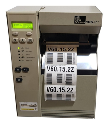 Impressora De Etiquetas Zebra 105sl - Serial E Paralela