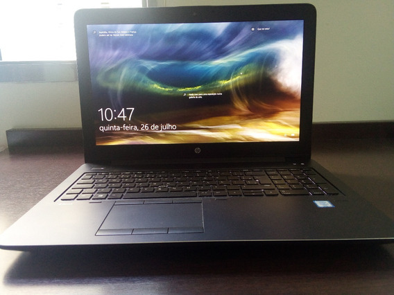 Workstation Móvel Hp Zbook 15g3- I7- 16gb De Ram - Ssd500gb