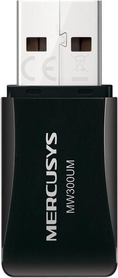Adaptador Usb Mercusys Mw300um Wireless Mini 300 Mbps