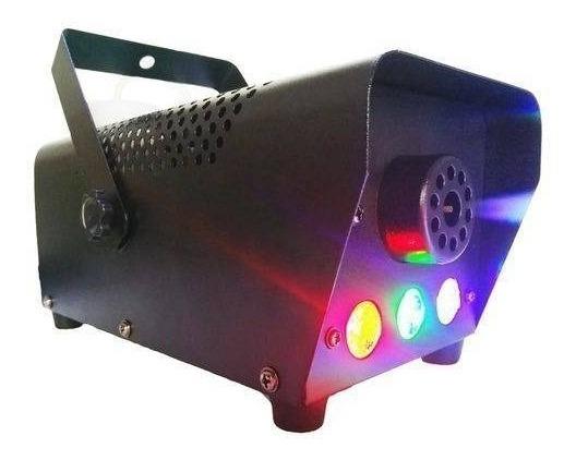 Máquina Fumaça 600w Com Leds Rgb 110v Controle
