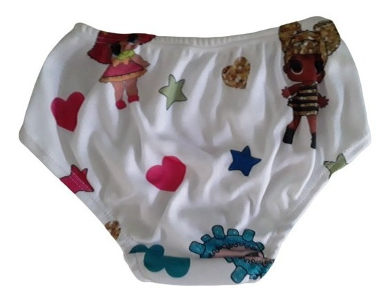 Panty Para Niñas Lol Surprise Algodon Colombiano 6 Unidades