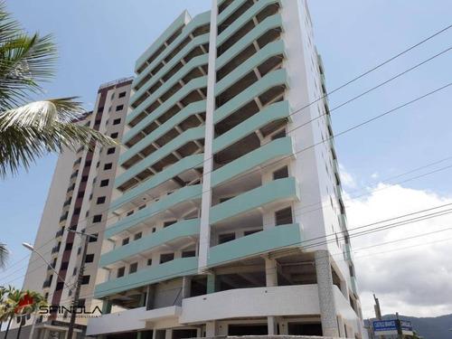 Apartamento Com 1 Dormitório À Venda, 54 M² - Balneário Flórida - Praia Grande/sp . Litoral Sul - Ap2796