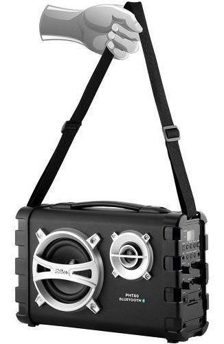 Caixa De Som Philco 80 Watts Rms Bateria 5h, Radio Fm, Bluetooth, Entrada Auxiliar, Usb, Microfone - Pht80
