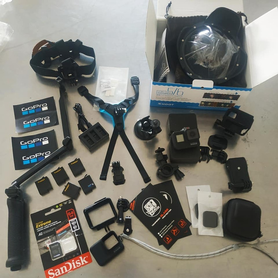 Gopro7 Black Com Super Kit De Acessórios