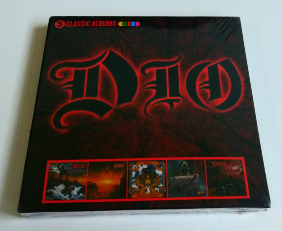 Box Dio 5 Classic Albums Holy Diver Last In Line ( 5 Cd )