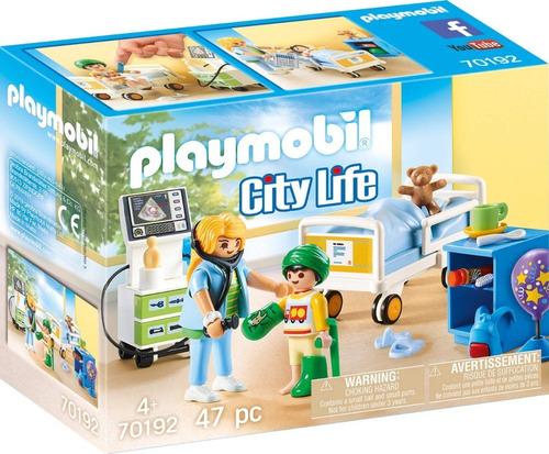 Playmobil Habitacion Hospital De Niños 70192 City Life Edu