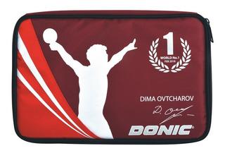 Capa Case Raqueteira Tênis De Mesa Donic Ovtcharov Vermelha
