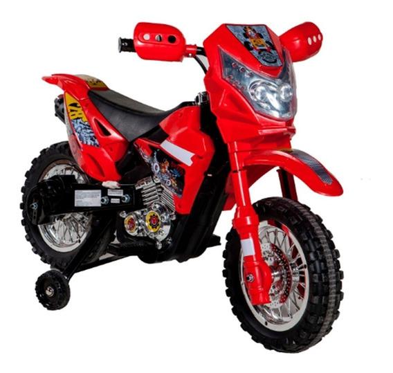 Moto Cross A Bateria 6v Luz Musica