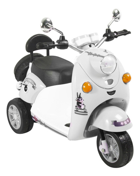 Moto Scooter D5588 Blanc