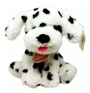 Cachorro De Pelúcia Branco Sentado - 20 Cm De Altura - Zimex
