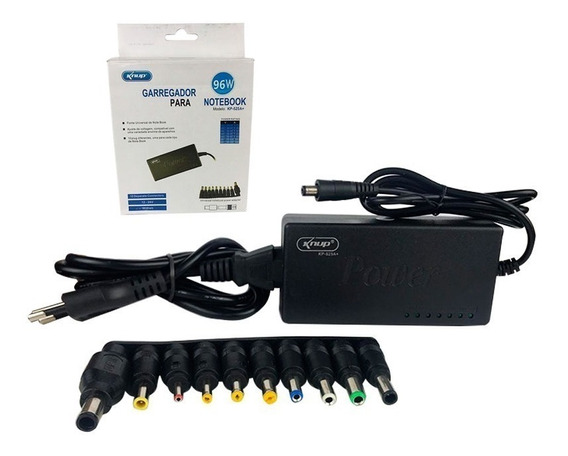 Fonte Universal Carregador Para Notebook 10 Plug 12v - 24v