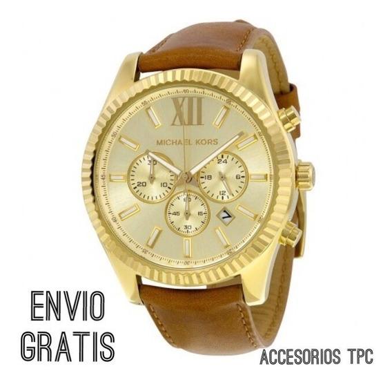 Reloj Michael Kors Mk8447 Caballero Piel Envío Gratis