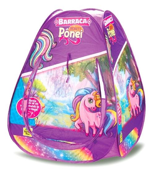 Toca Barraca Infantil Pônei Meninas Com Bolsa - Samba Toys