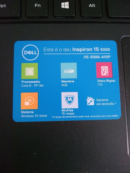 Notebook Marca Dell