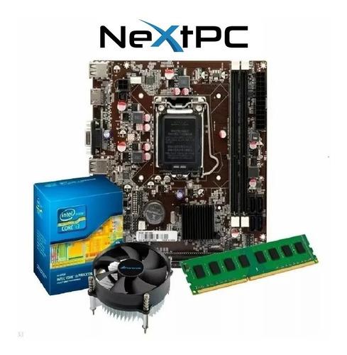 Imagem 1 de 6 de Kit I3 2120 3.30 Ghz + Placa H61 1155 + 4gb Ddr3 + Cooler