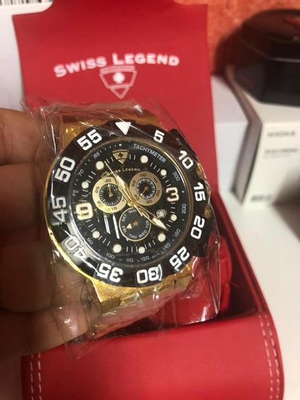 Swiss Legend Sl 10125b Challenger Suiço 49 Mm Original Suiço