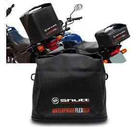 Bauleto Moto Waterproof Flex Box 42 L Dobrável Preto Shutt