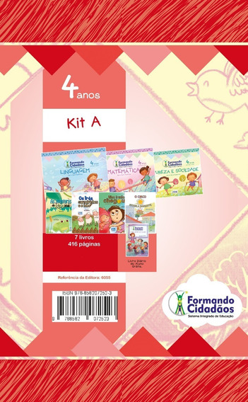 Livro Formando Cidadãos Kit A 4 Anos Nova Edição