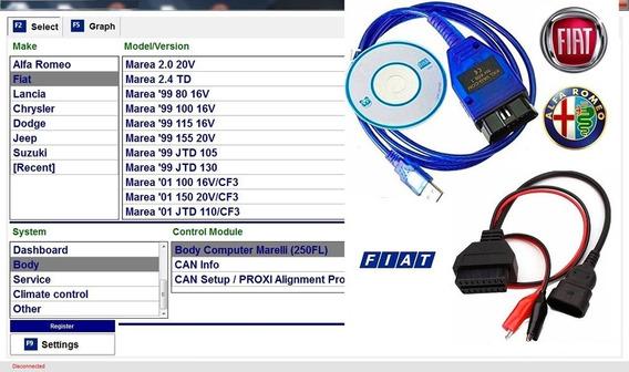Scanner Fiat Marea Obd2 + Cabo Adaptador