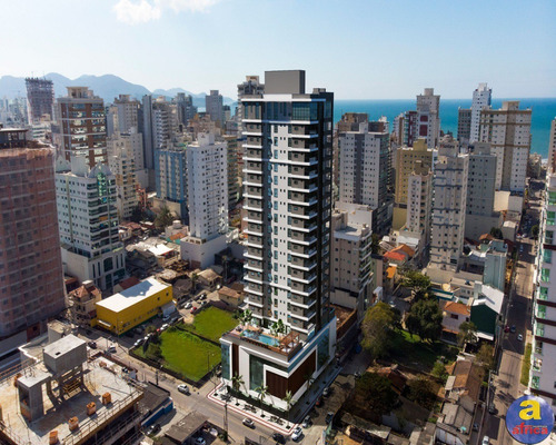 Imagem 1 de 17 de Apartamento 3 Suítes, 2 Vagas De Garagem Na Meia Praia Em Itapema/sc - Imobiliária África - Ap00280 - 69382153