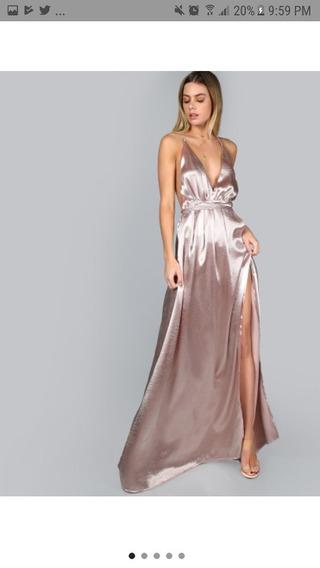 Vestido Rosa Largo De Noche