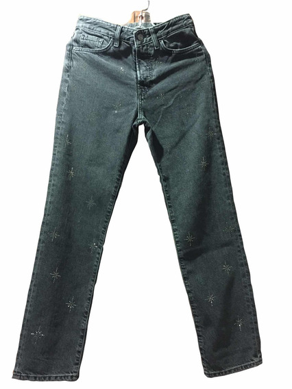 Jeans H&m Negros Original P/mujer Talla S (eur 26-chica)