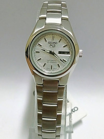 Relógio Seiko 5 Automático Feminino Fundo Metalico Symc07b1