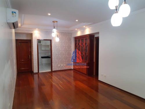 Apartamento Com 3 Dormitórios À Venda, 128 M² Por R$ 809.000,00 - Jardim São Paulo - Americana/sp - Ap1112