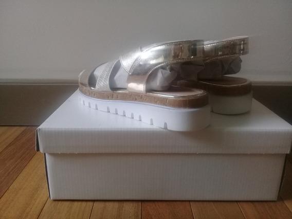 Sandalias Basement Doradas Increible Precio! Nuevas