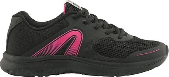 Tenis Feminino Rainha Clip Preto Rosa