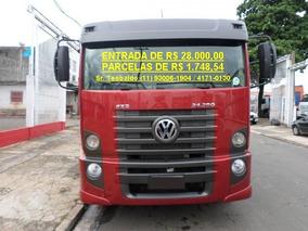 Vw 24280, 8x2 Bi-truck, Carroc. Madeira Unico Dono