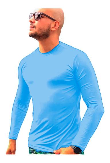 Camiseta Blusa Masculina Térmica Proteção Praia Pele Uv 50+